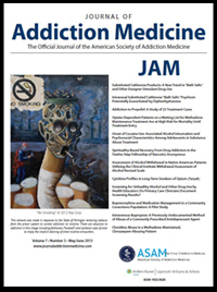 Journal of Addiction Medicine - Dr. Reef
